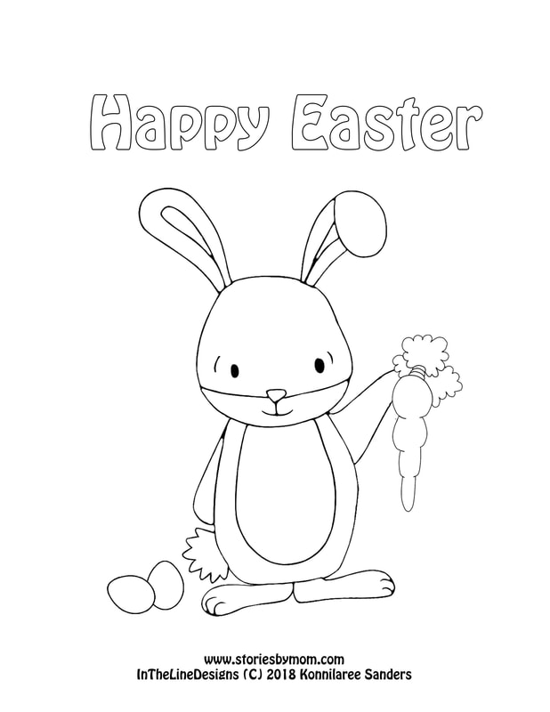 #easter #bunny #coloringpage #carrot #kidstuff #storiesbymom #papercraft