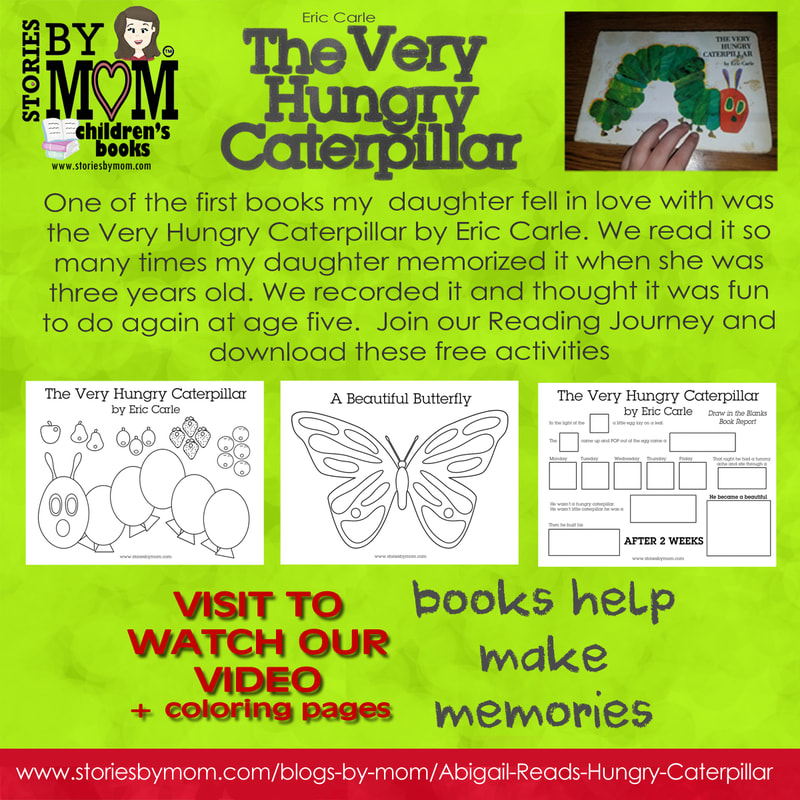 Stories by Mom Presents the Very Hungry Caterpillar. Join us in our reading journey #storiesbymom #kidstuff #reading #coloringpages #theveryhungrycaterpillar #books