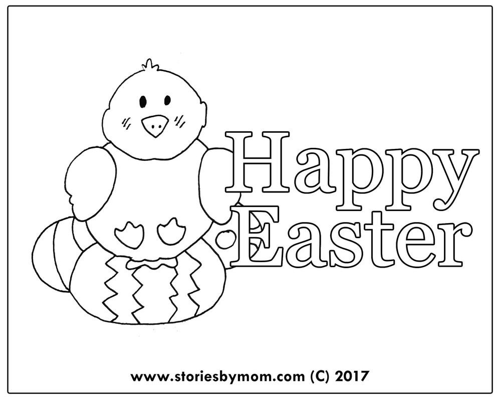 Happy Easter free Coloring Page from www.storiesbymom.com