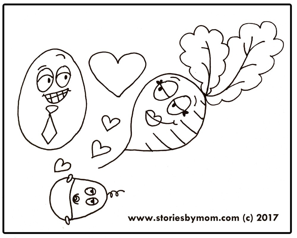 Happy Easter Pickled Egg and Beet free Coloring Page from www.storiesbymom.com