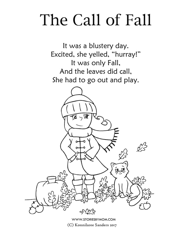 The Call of Fall Coloring Page from Stories by Mom Children's Books