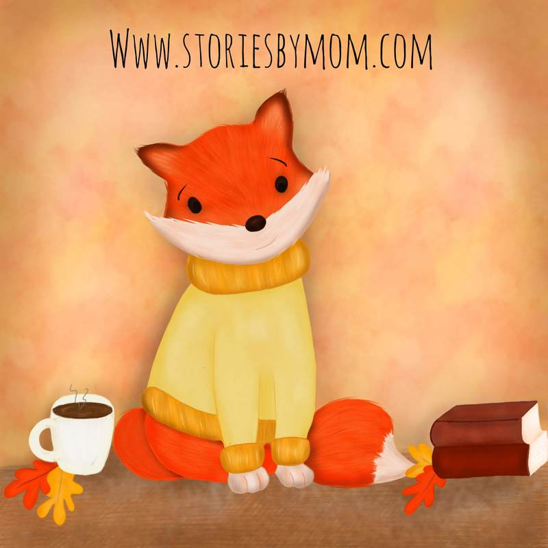 #fall #fox for the #colour_collective #scheveningenorange #orange #kidlitart #illustration #coffee #books #autumn #cute #animals