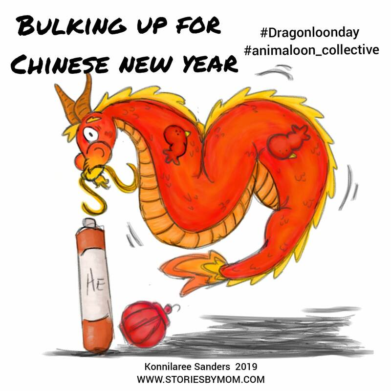#chinesenewyear #dragon #balloon #illustration #cute #art #coloringpage #storiesbymom