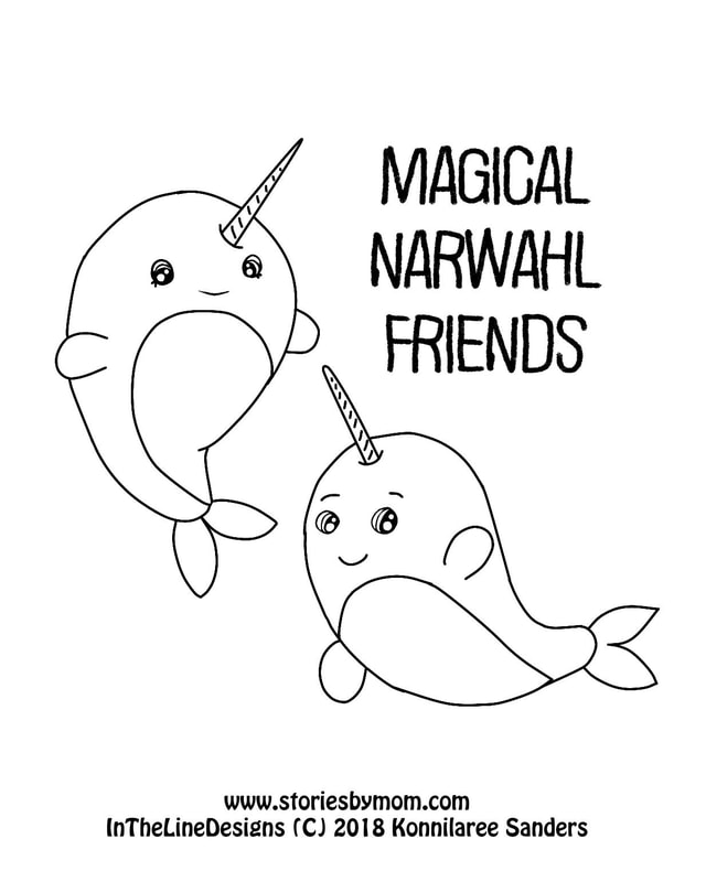 #magical #narwahl #coloringpage #friends #sea #kidstuff