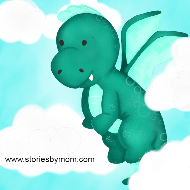 #dragon #wallart #kidart #cute #zazzle #storiesbymom