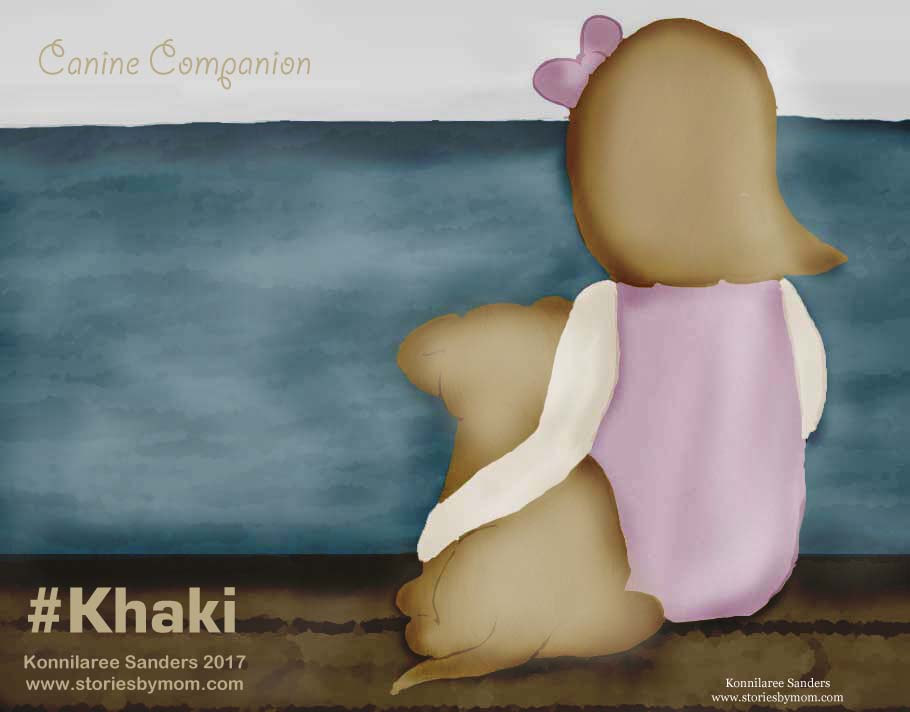 Khaki Colored Art Canine Companion by Konnilaree Sanders www.storiesbymom.com
