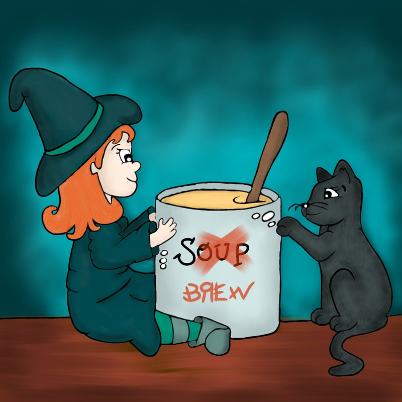 "Midnight Brew - Little girl witch and her cat makes a brew at midnight. Stories by Mom Children's Book #midnightgreen Midnight Brew The girl said, ""My cat, do not fright. Let's see what we can make tonight."" In a witchy mood, the girl boiled and brewed until the clocked ticked past midnight."