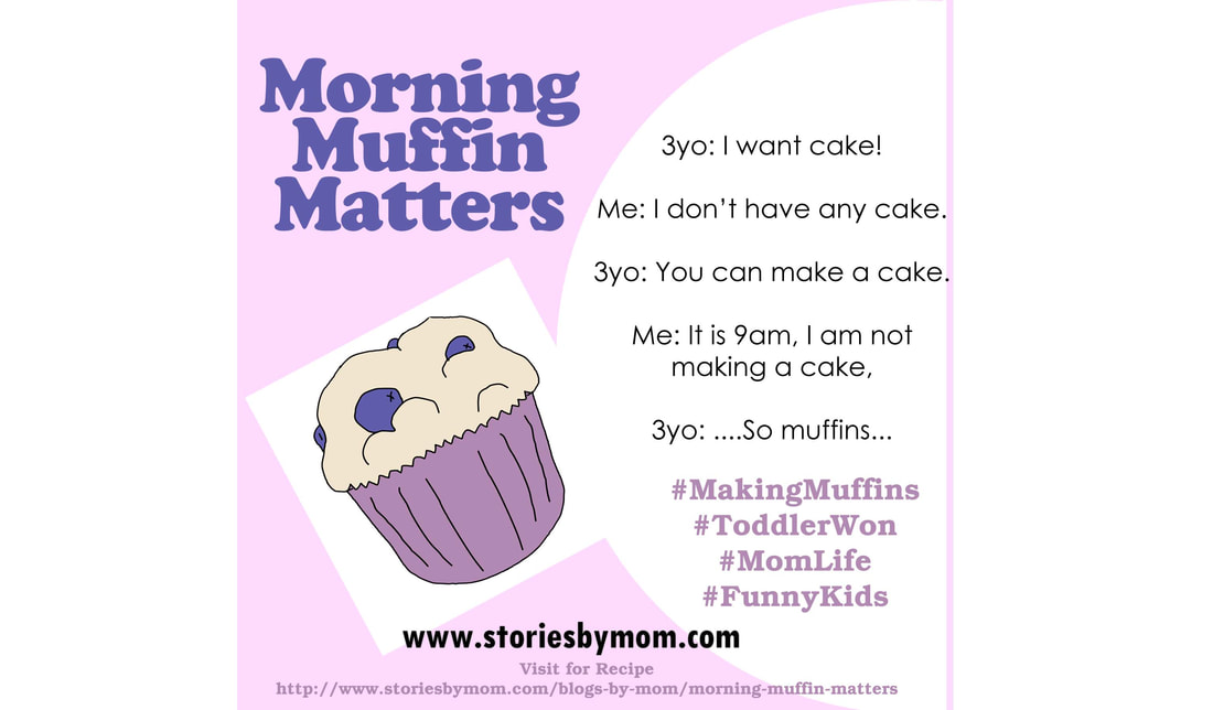 Morning Muffin Matters - Read More and Get the Recipe and learn more about our children's book at www.storiesbymom.com