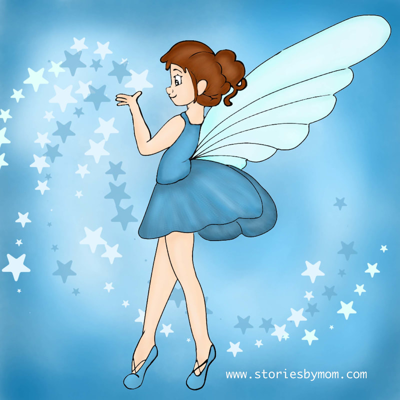 The question is very tricky Is she a fairy or pixie? Then the stars of blue flew. It didn't matter who. I really loved their whimsy. #illustration #poem #storiesbymom #fairy #pixie