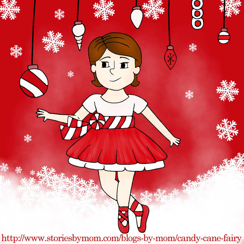 Candy Cane Fairy She was no Sugar Plum Fairy But she had felt rather merry Visions of candy cane red Were dancing in her head She was quite unordinary. #christmas #red #fairy #snow #illustration #storiesbymom