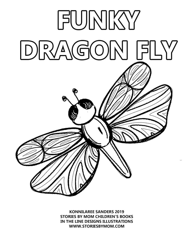 #FUNKY #DIGITALART #ILLUSTRATION #DRAGONFLY #BUGS #KIDSTUFF #DRAWING #STORIESBYMOM #COLORINGPAGE #BLOGPOST