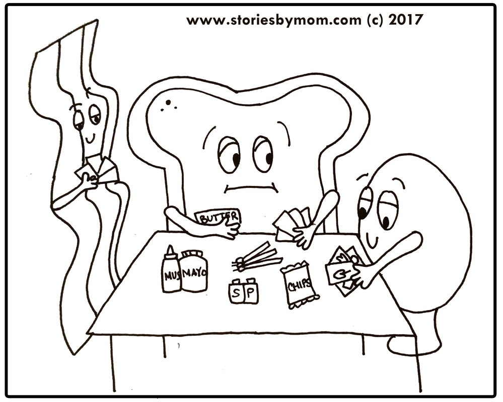 Happy Easter Egg Bacon Bread Poker Game free Coloring Page from www.storiesbymom.com