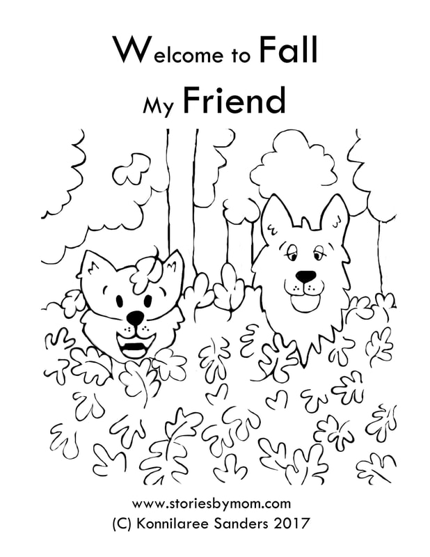 Welcome to Fall Free Dog Playing In Leaves Downloadable Coloring Page from www.storiesbymom.com Children's Books