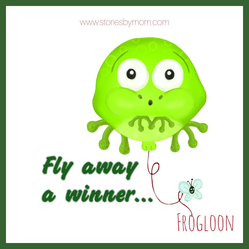 Frogloon Balloon Illustration - This fly won a prize at the fair. A frog balloon. From Stories by Mom Children's Books