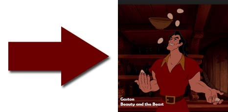 Gaston from Beauty and the Beast Eating Eggs