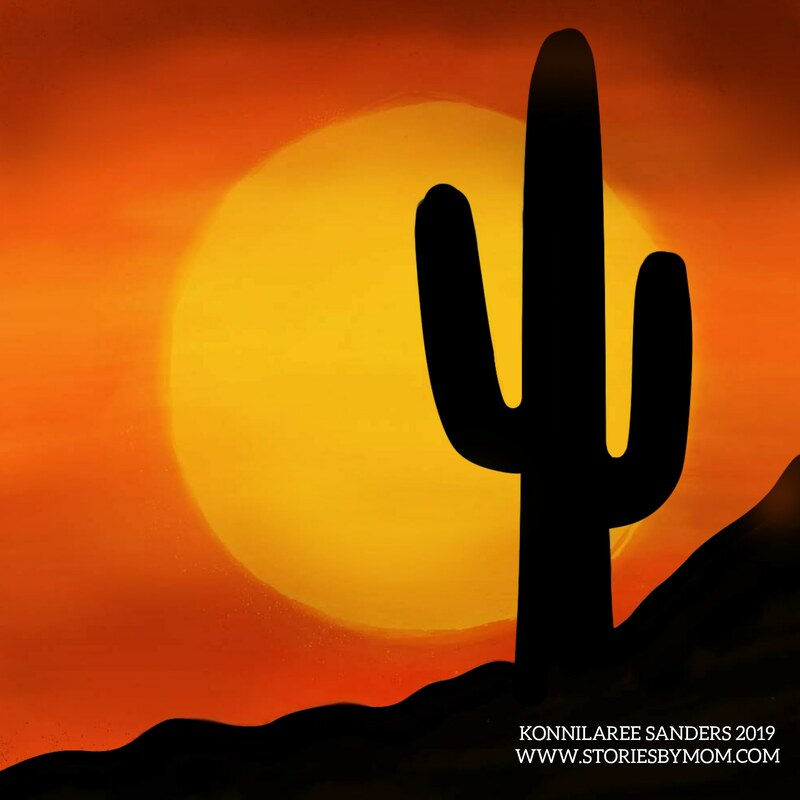 #digitalpainting #art #arizona #sunset #colour_collective #lakelightorange #orange #desert #illustration #storiesbymom #cactusustrations #drawing #storiesbymom