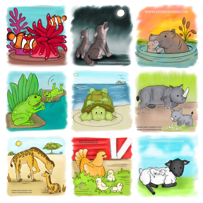 this will be part of a #childrensbook, so please follow for more information #cute #animal #mom #baby #illustration #art #storiesbymom #sheep #farm #wild #wolf #hippo #rhino #dad