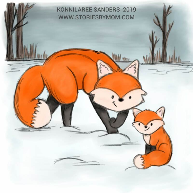 #cute #animal #mom #baby #illustration #art #storiesbymom #pup #fox #father
