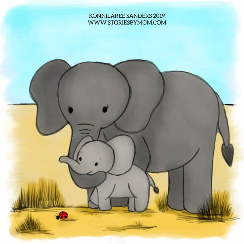 this will be part of a #childrensbook, so please follow for more information #cute #animal #mom #baby #illustration #art #storiesbymom #savanah #mom #elephany #love