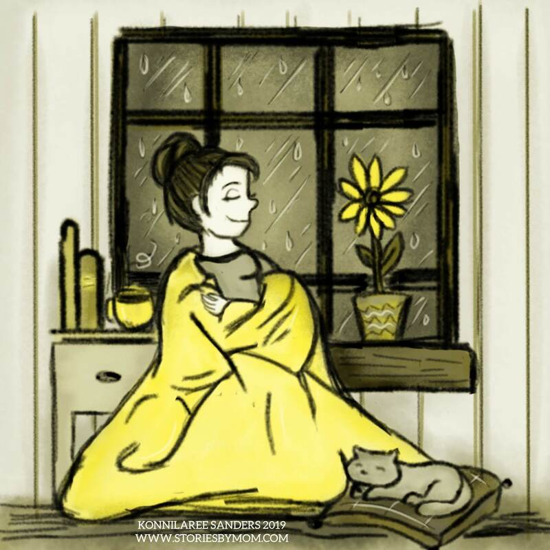 #Pluviophile is a lover of #rain they find #joy and #peaceofmind during #rainydays #colour_collective #cadiumyellowpale #relax with #coffee #tea #cats #books #flowers #yellow #sunny #blanket #digitalart #illustration #art #instartist #drawing #atoriesbymom #Picture