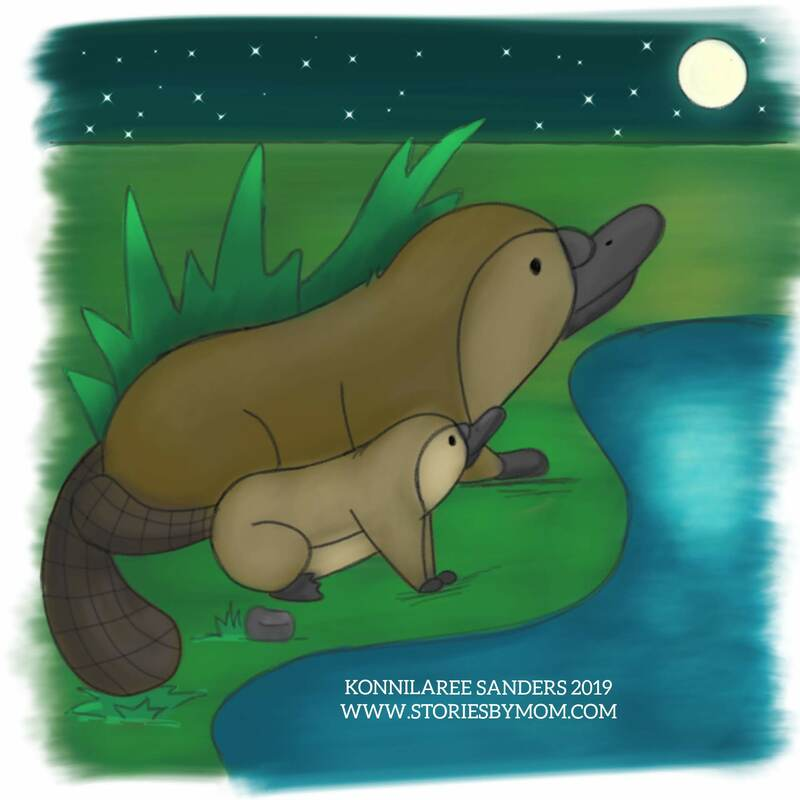 this will be part of a #childrensbook, so please follow for more information #cute #animal #mom #baby #illustration #art #storiesbymom #Australia #mom #platypus #love