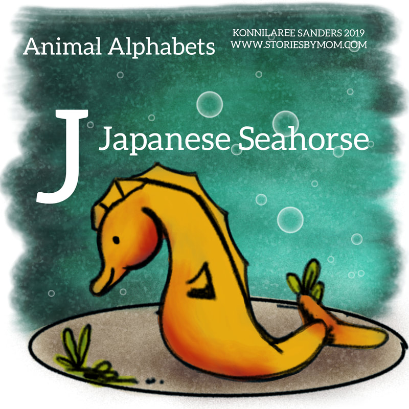 #letterj #Japaneseseahorse #sea #ocean #animals #illustration #digitalart #artist #animalalphabets #coloringpage