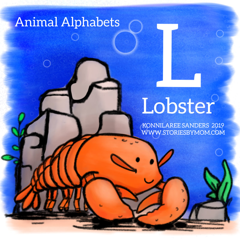 #animalalphabets #lobster #letterL #seacreatures #ocean #animals #cute #kidlitart #digitalart #illuastation #funfacts #processvideo #coloringpage #kidstuff #storiesbymom