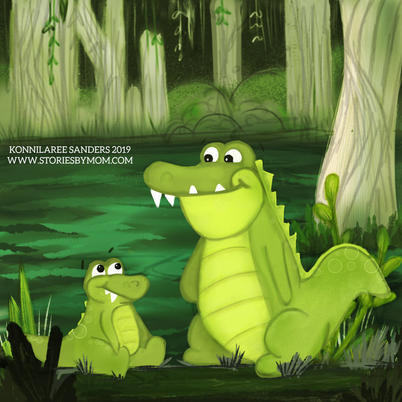 #colour_collective #cinnabargreen #pinchpunchpost #crocodile #swamp #cute #animals #kidlitart #dad #baby #digitalart #coloringpage #proccessvideo #artist #storiesbymom #illustration