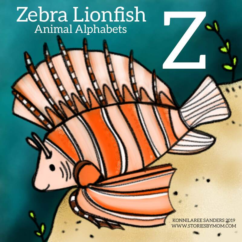 #animalalphabets #letterZ #zebralionfish #seacreatures #ocean #animals #fish #art #artist #drawing #digitalart #illustration #illustrator #funfacts #processgif #coloringpage #kidstuff