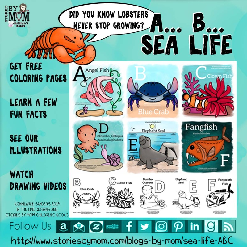 #animalalphabets #seacreatures #ocean #animals #digitalart #illustration #kidart #processvideo #coloringpage #funfacts
