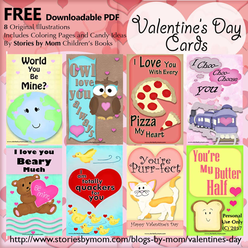 "Free Valentine Day Cards from www.storiesbymom.com Children's Books by Konnilaree Sanders, ""I Love You Beary Much"" with Gummy Bears"